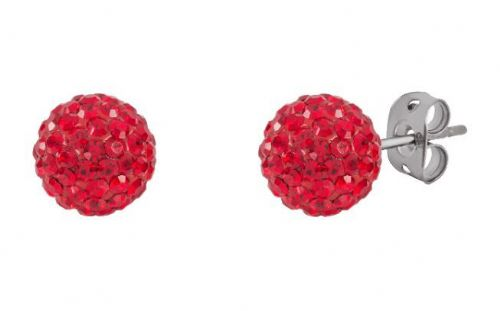 Tresor Paris 10mm Red Large BonBon Stud Earrings